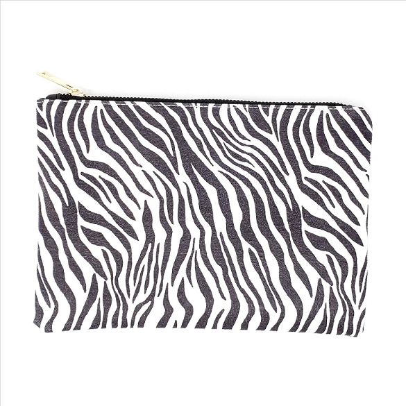 Animal Print Cosmetic Bag - Zebra
