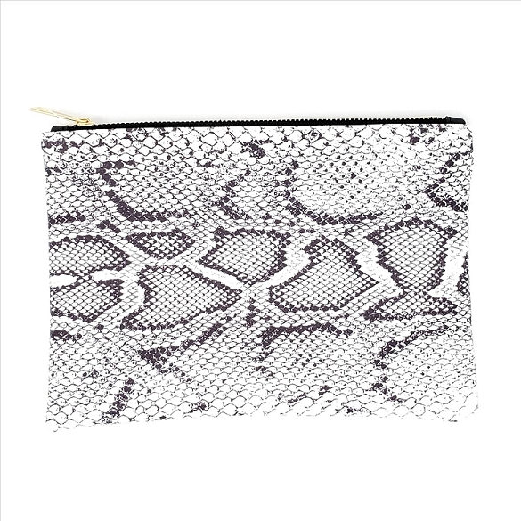 Animal Print Cosmetic Bag - Snake