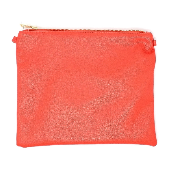 Solid Red Crossbody Bag