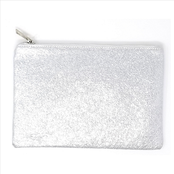 Sparkling Silver Cosmetic Bag