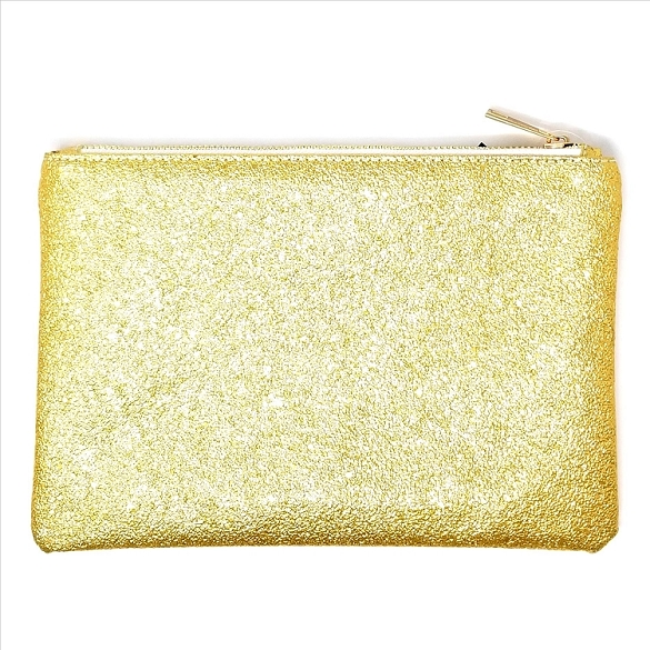 Sparkling Gold Cosmetic Bag