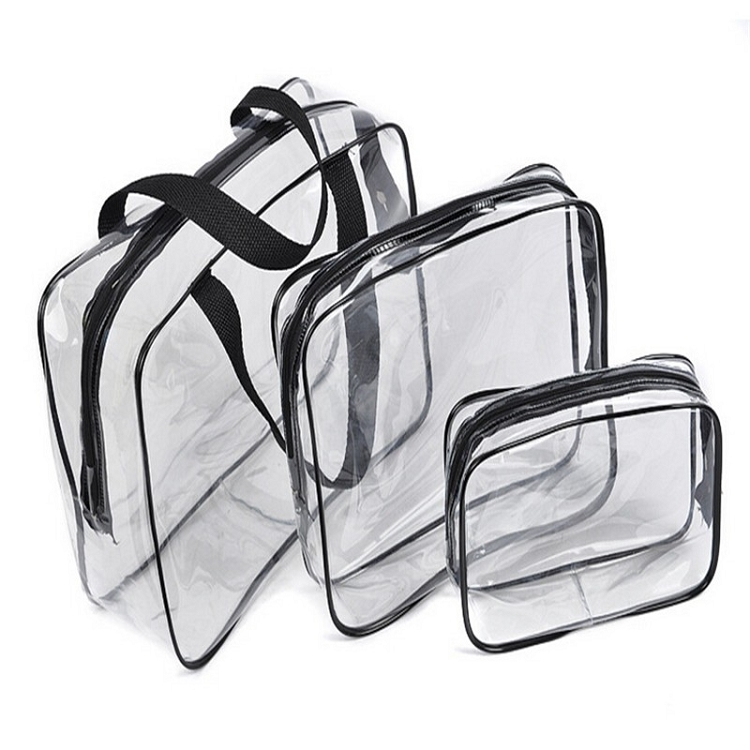 Hot 3 Piece Transparent Travel Essential
