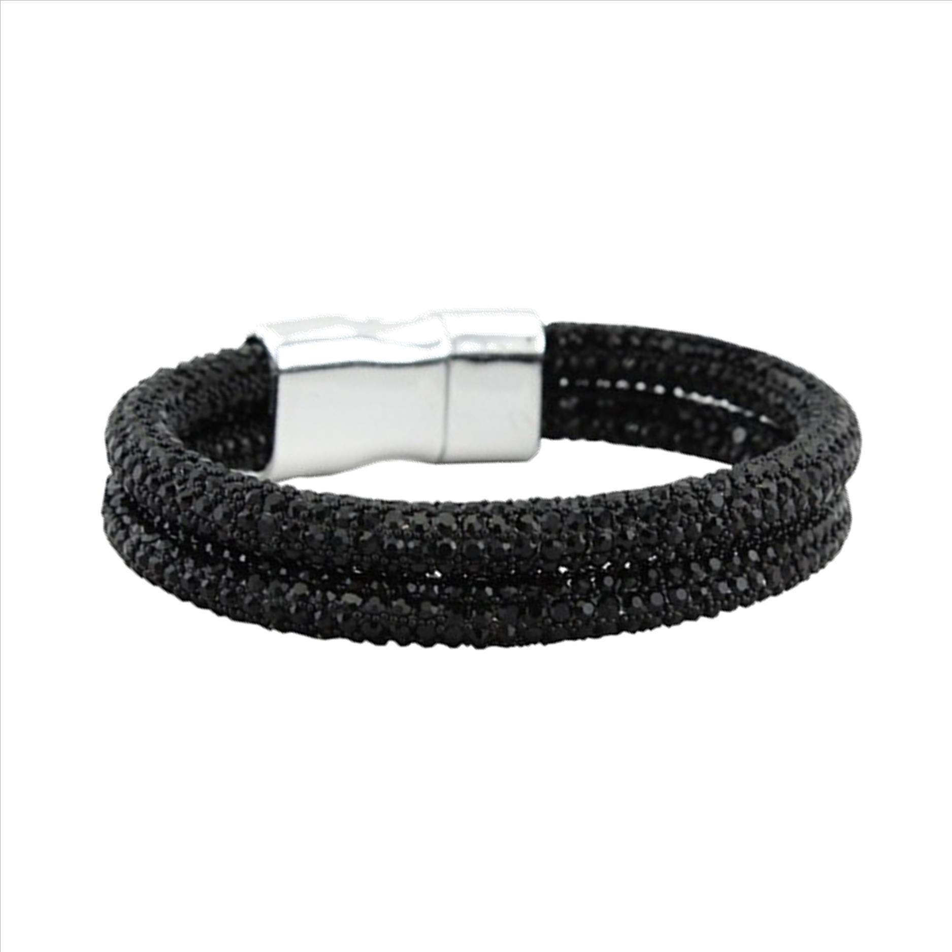 Magnetic Clasp Bracelet Black