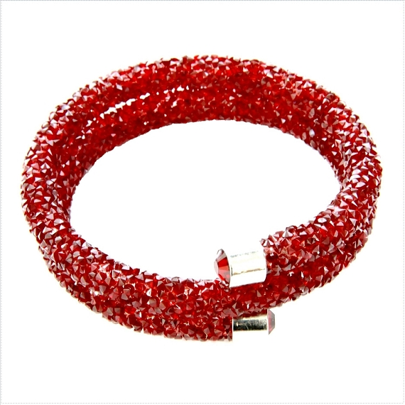 Crystal Dust Bangle - Ruby Red