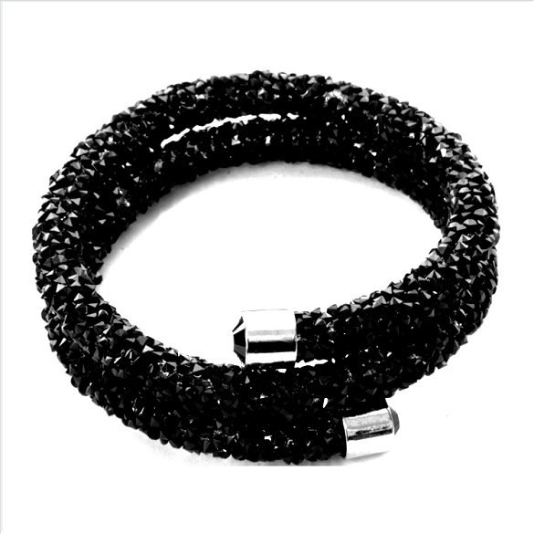 Crystal Dust Bangle - Black