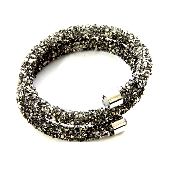 Crystal Dust Bangle - Charcoal