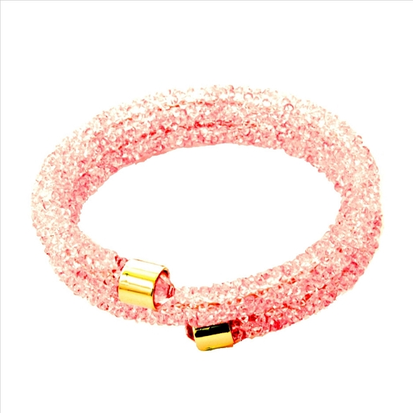 Crystal Dust Bangle - Pink