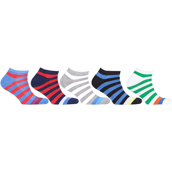 Women's Sport Stripe Socks #1 - 5 Assorted