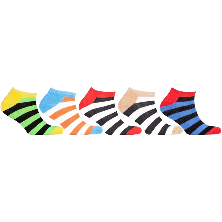 Women's Sport Stripe Socks #2 - 5 Assorted