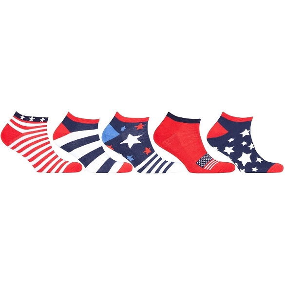 Women's Sport USA Socks - 5 Assorted