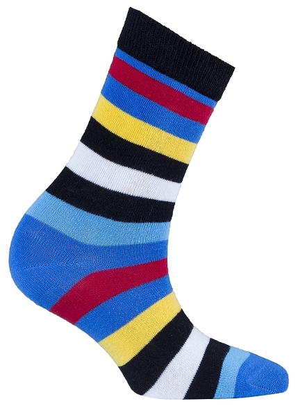 Women's Stripe Crew Socks #4083