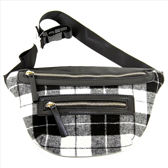 Buffalo Plaid Fanny Pack - Black
