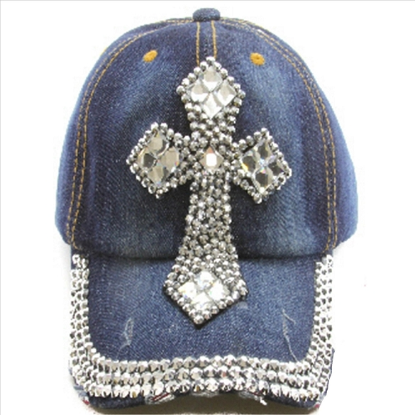 Rhinestone Cross Hat