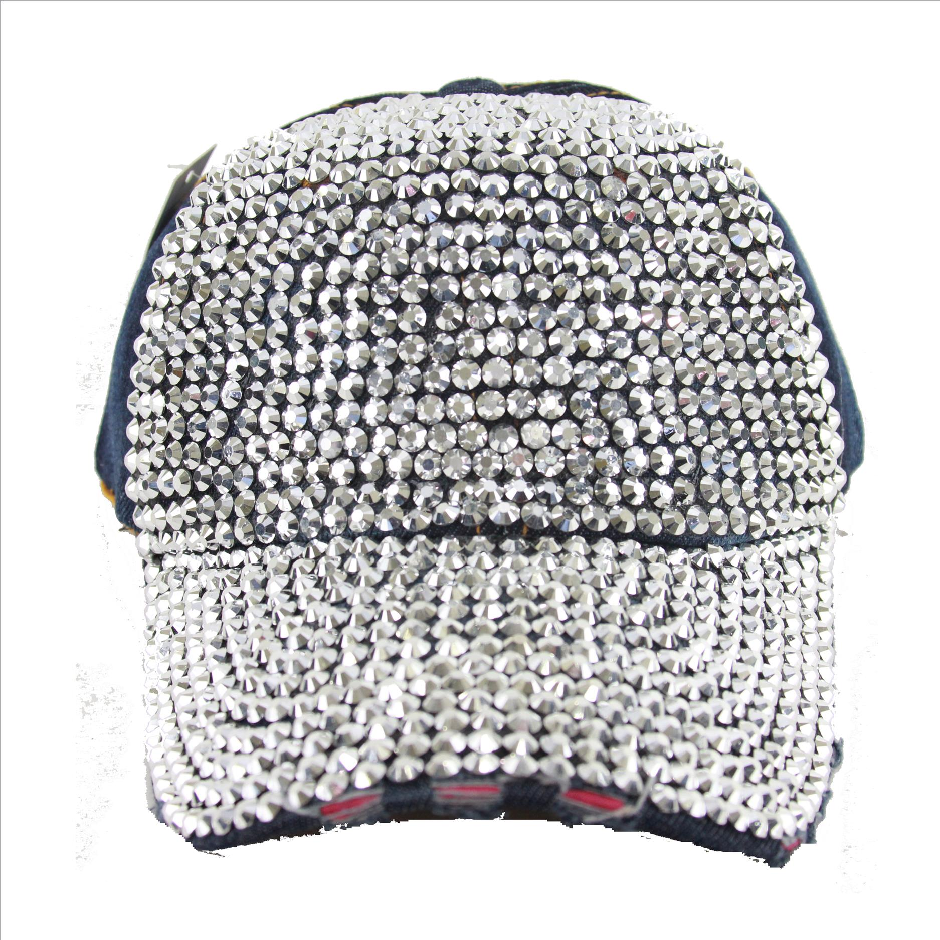 Bling on Denim Hat