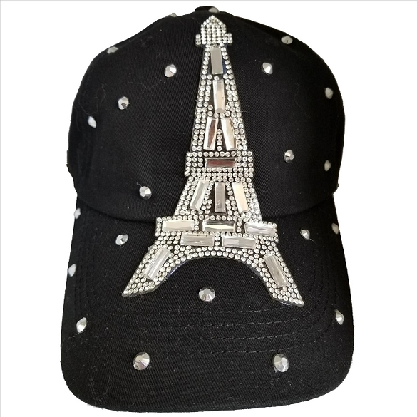 Bling Eiffel Tower Hat - Black