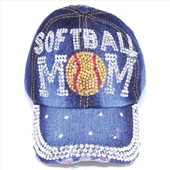 Bling Softball Mom Hat