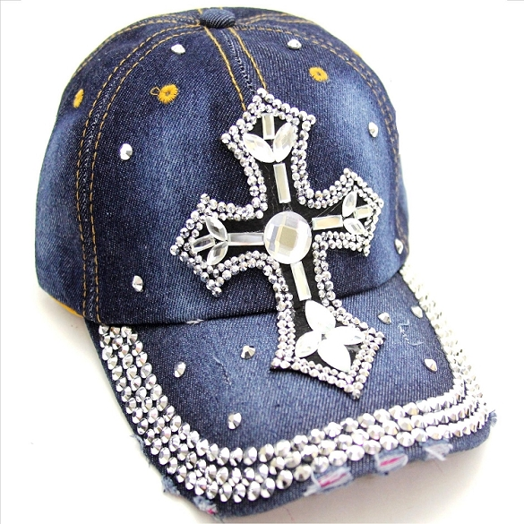 Feminine Cross Bling Hat