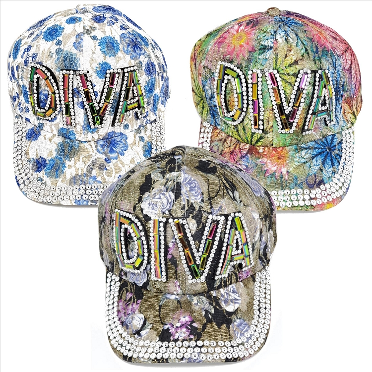 DIVA Bold Rhinestone Hats - Assorted
