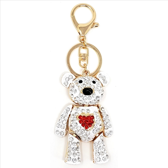 Crystal Bear Key Chain / Purse Charm