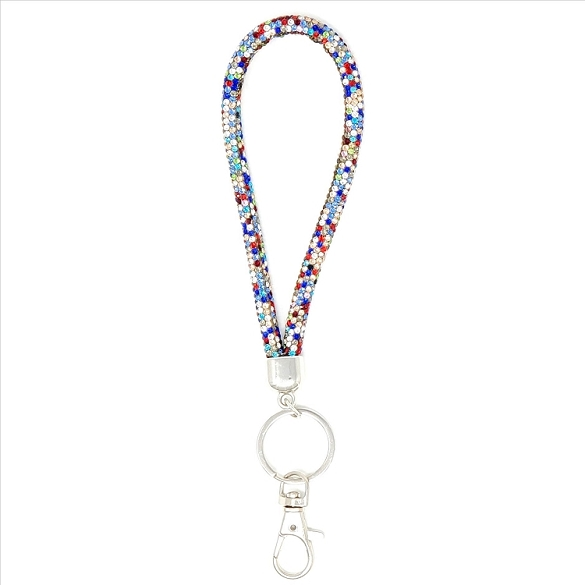 Round Wristlet Key Chain - Multi
