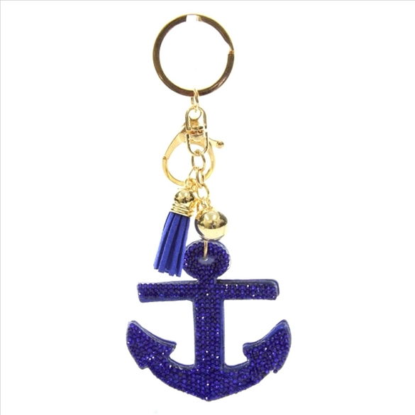 Anchor Puffy Tassel Key Chain