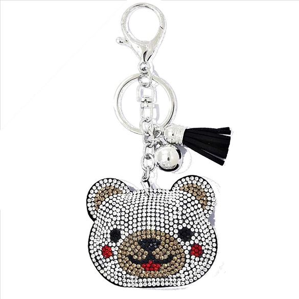 Baby Bear Puffy Tassel Key Chain