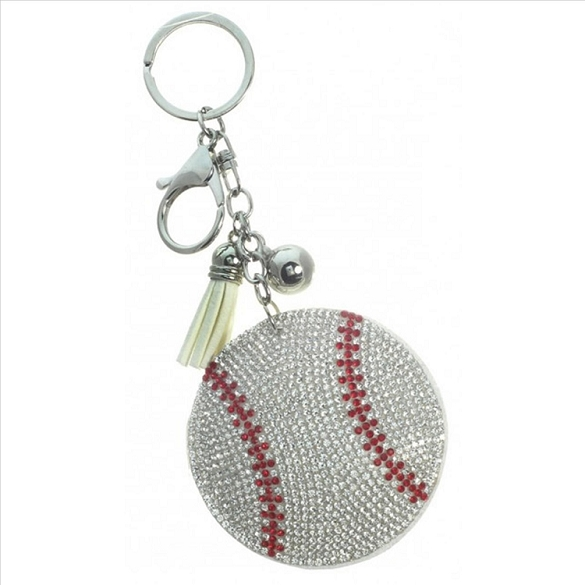 Baseball Puffy Tassel Key Chain