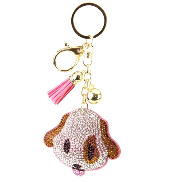 Boxer Puffy Tassel Key Chain