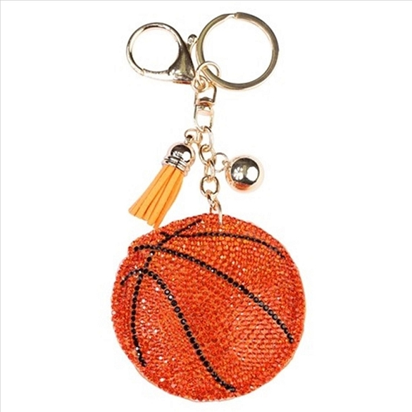Basketball Puffy Tassel Key Chain