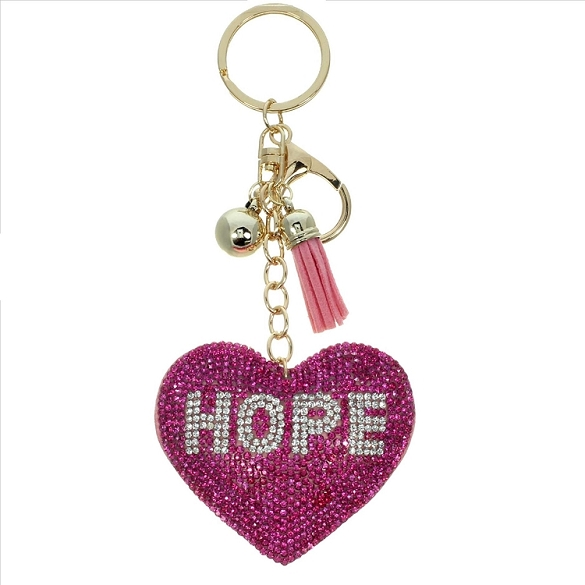 Hope Puffy Tassel Key Chain