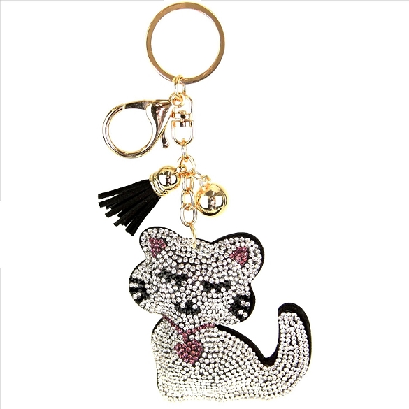 Kitten Tassel Key Chain