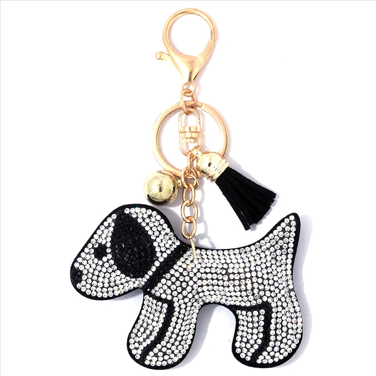 Puppy Puffy Tassel Key Chain