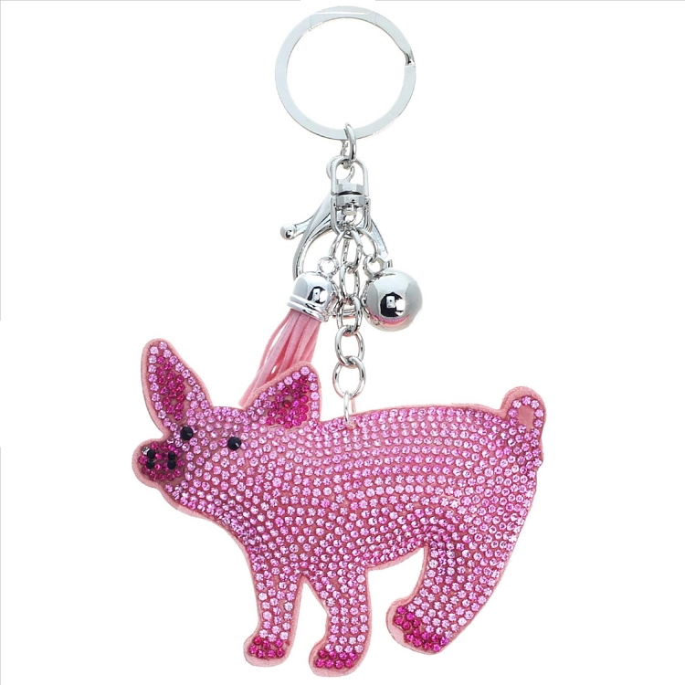 Pig Puffy Tassel Key Chain