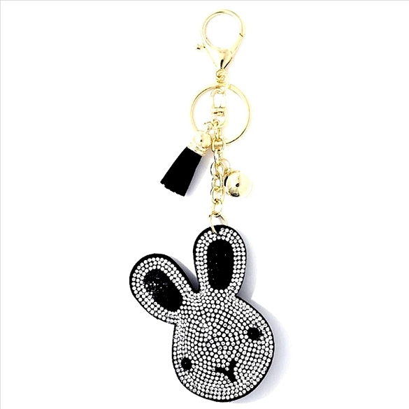 Bunny Puffy Tassel Key Chain