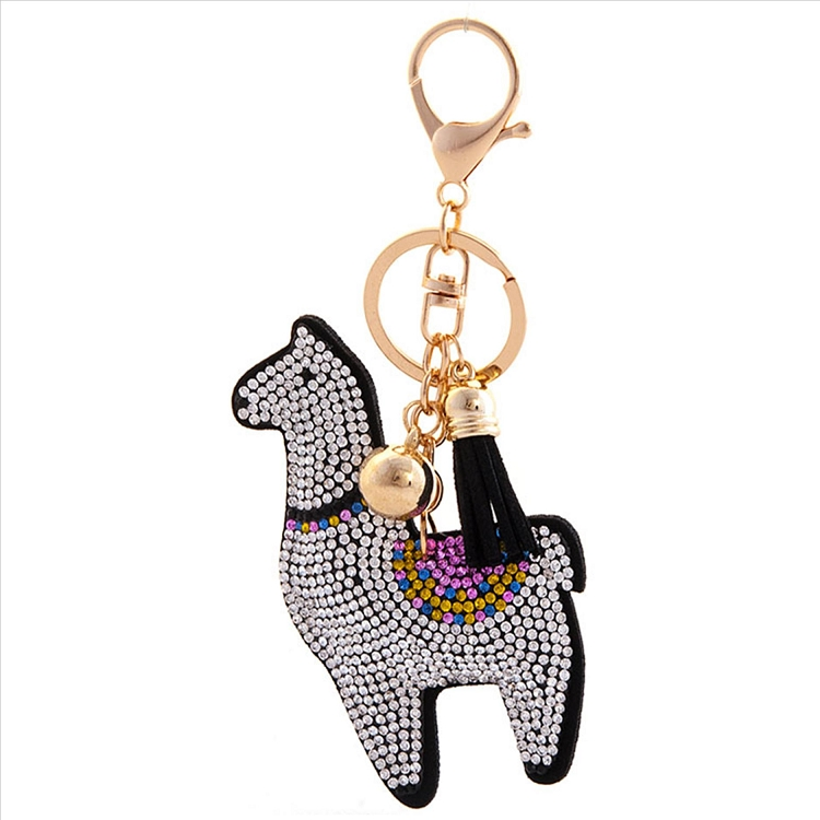 Chic Llama Puffy Tassel Key Chain
