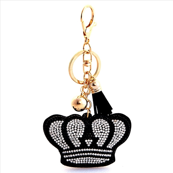 Crown Puffy Tassel Key Chain