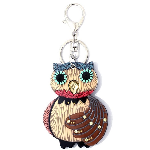Cute Owl Keychain / Mirror