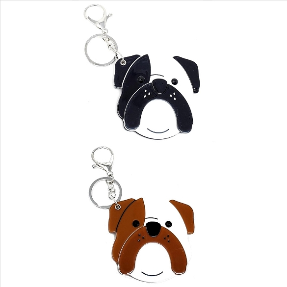 Assorted Bulldog Keychain / Mirror