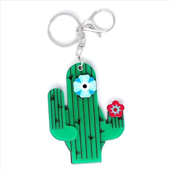 Saguaro Cactus Key Chain  Mirror - 9 Pack