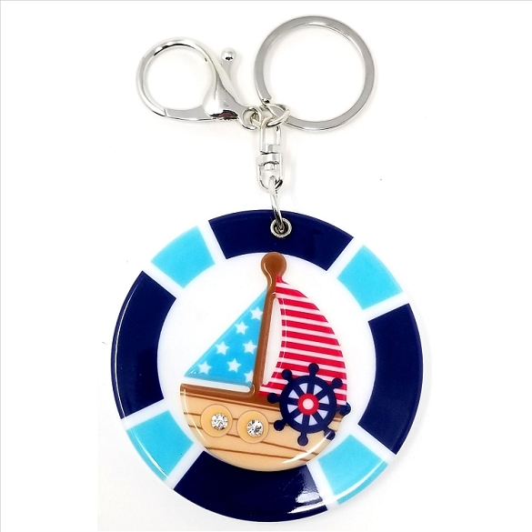 Sailboat Keychain / Mirror