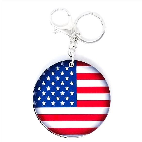 3 Pack American Flag Keychain / Mirror