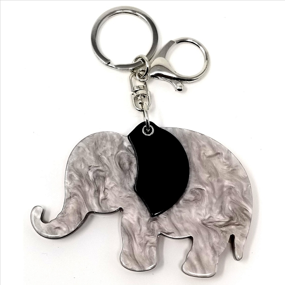 3 Pack Elephant Keychain / Mirror