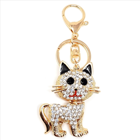 Crystal Kitten Key Chain / Purse Charm