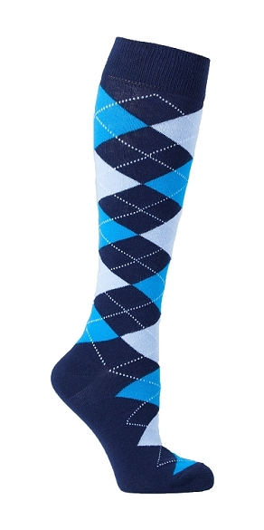 Women's Argyle Knee Highs #4141