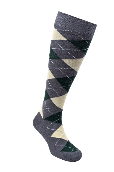 Women's Argyle Knee Highs #4152