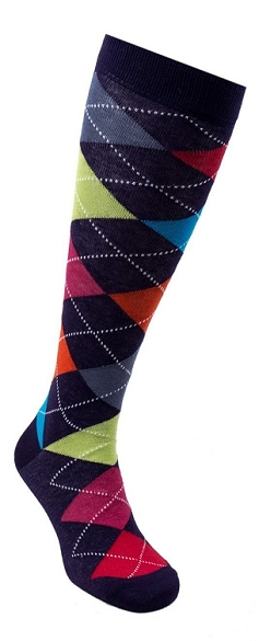 Women's Argyle Knee Highs #4156