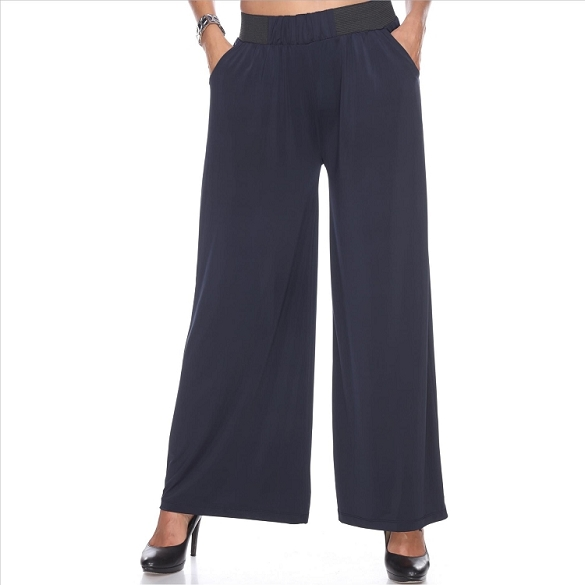 Amazing Palazzo Pants with Pockets - Navy