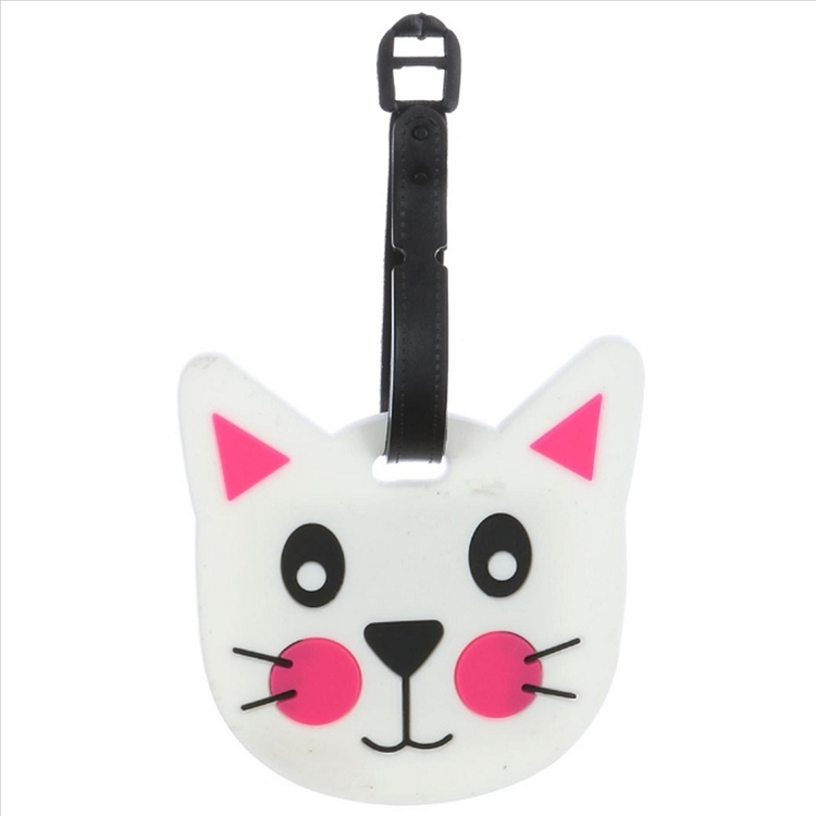 Cute Kitty Face Luggage Tag