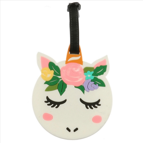 Cute Unicorn Head Luggage Tag