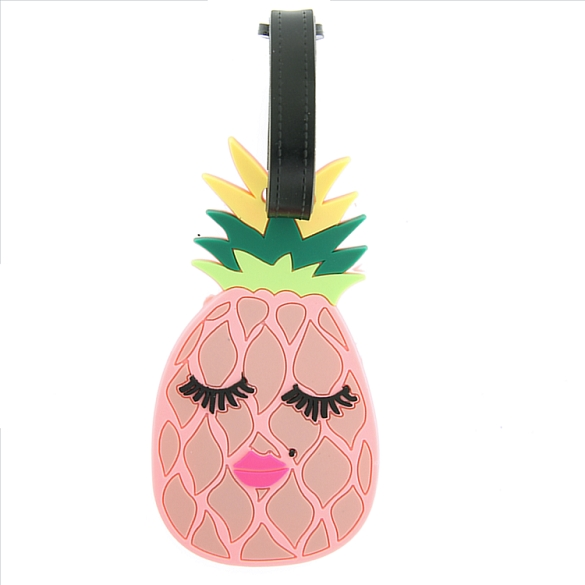 Pretty Pink Pineapple Luggage Tag
